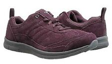 Easy Spirit Southcoast athletic shoe GEL wine suede leather sz 8 Extra WIDE New