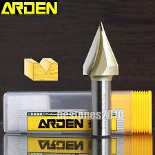 """ARDEN 45 Degree V-Groove Router Bit 1/4*19/32 Straight V Slotting Cutter 19/32"""""""