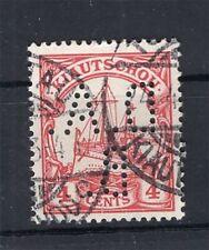 Kiautschou Firmenlochung Perfin Postmarked (A4286