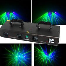 NEW ITEM 4 Lens 300mW Green+Violet DMX Laser Party DJ Disco Stage Laser Light
