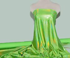 """MYSTIQUE REFLECTIVE HOLO FABRIC LIMELIGHT   58""""  DANCE GYMNASTIC CHEER BOWS"""