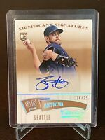 2014 Panini Classics James Paxton Rookie Auto SP /25 Seattle Mariners RC Gold