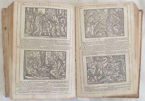 BIBBIA REMONDINI BIBLIA SACRA VULGATAE EDITIONIS 220 XILOGRAFIE ILLS BIBLE 1750