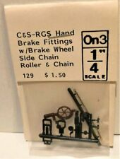 O On3 Grandt Line (129) C&S Handbrake fittings w-wheel & roller chain, plastic