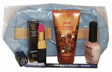 5PZ CHANEL Rouge Rossetto Makeup & faketan GIFTSET Inc Bourjois Nailene & bag