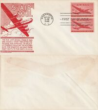 US 1946 NEW 5 CENT AIR MAIL RATE FIRST DAY COVER WASHINGTON DC FDI (a)