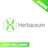 Herbaceum.com Brandable domain name for sale PREMIUM LOGO Two Words 2 COM Green