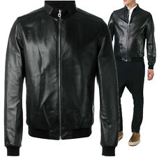 ★Giacca Giubbotto Uomo in di PELLE 100% Men Leather Jacket Veste Homme Cuir R95