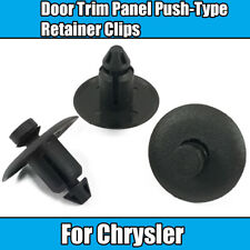 10x Clips For Chrysler Door Trim Panel Push-Type Retainer Clips Black Plastic
