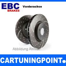 EBC Brake Discs Front Axle Turbo GROOVE FOR NISSAN JUKE F15 GD1735
