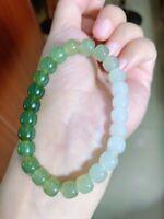 Jadeite Bead Bracelet Jade Bracelets+Appraisal certificate+Nice jewelry Box 18mm