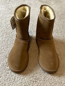 NEW WITH TAGS WOMEN'S FADED GLORY SLIP BOOTS GENUINE LEATHER SIZE 7