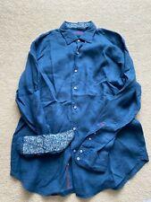 Robert Graham Mens Long Sleeve Dress Shirt Large
