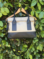 Kate Spade black pebbled leather foldover satchel/crossbody bag Large Southport