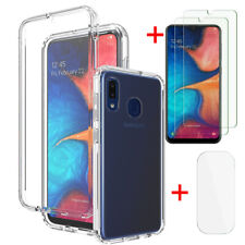 For Samsung Galaxy A20/A20S/A30Clear TPU Case +Screen Protector+Lens Protector