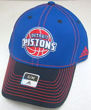 NBA Detroit Pistons Multi-Color Structured Flex Fitted Hat By adidas, Size S/M