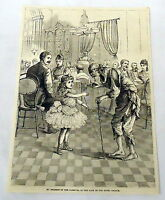 1878 magazine engraving ~ INCIDENT AT HOTEL PASAGE~ Cuba