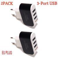 Universal 3.1A Triple USB 3 Port Wall Home Travel AC Charger Adapter EU Plug.