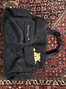 Disney Winnie The Pooh PeeK-a-Pooh Baby Diaper Bag Navy Travel Tote Bottle Nappy