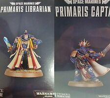 Warhammer 40K SPACE MARINES PRIMARIS CAPTAIN & LIBRARIAN