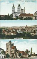 D NAUMBURG a. S., 1911 farbige AK Gruß-Aus (gebr.) mit Dom, Gesamtansicht und