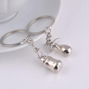 2pcs Feeding Bottle Nipple Couples Key Chain Key Ring Keychain Gift