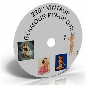 2200 VINTAGE GLAMOUR GIRLS Picture Images Art CD