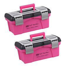2 Stk. Rosa Aufbewahrungsbox Toolbox Haushalt Aufbewahrungsbox Multifunktionsbox