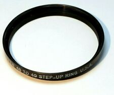 Tiffen 48mm to 49mm Step-up ring Metal adapter double threaded for lens filter