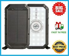 Solar Power Bank Portable Solar Charger 20,000mAH Qi Wireless Charger 3 USB port