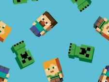 FAT QUARTER FABRIC  MINECRAFT FRIENDS  VIDEO GAME  XBOX  MOJANG 100% COTTON  FQ