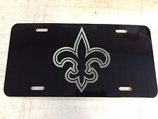 New Orleans Saints Car Tag Diamond Etched on Aluminum License Plate