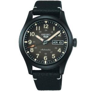 SEIKO SRPG41K1 Seiko 5 Automatic Field Watch Leather Strap Authorised Stockist