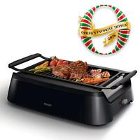 New Philips Avance 1660W Infrared Indoor Grill - Black HD6371/94