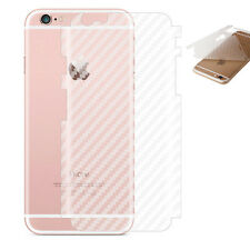 2 x Rückseite 3D Carbon Schutzfolie iPhone 6 / 6S Hinten Film Folie