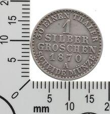 Schwarzburg-Sondershausen: 1 Silbergroschen 1870 A - Günther Friedrich Karl II.