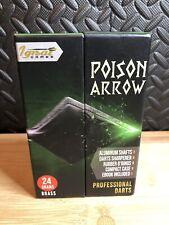 Steel Tip Darts Set Professional Darts with Stylish Green Poison Arrow 24 Gram