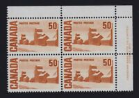 Canada Sc #465Aiv (1971) 50c Centennial PVA LF Pl. 2 Plate Block UR Mint VF NH