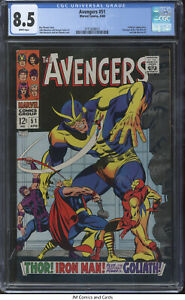 Avengers #51 1968 CGC 8.5 - Collector app, Full page ad for Iron Man #1