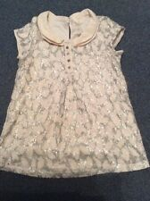 Girls Top Cream Lace Effect Lined With Collar Next Age 11