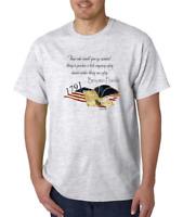 Gildan Short Sleeve T-shirt Benjamin Franklin Those Who Give Up Liberty Safety