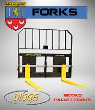 Digga Pallet Forks 1200kg Forklift Attachment Bobcat Skid Steer Mini Loader