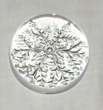 Crystal Dome Paperweight Snowflake Design
