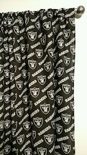 """NFL OAKLAND RAIDERS Curtain set 55""""W x 54""""L Things By Michelle Boutique"""