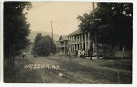 RPPC Street View WESTON NY nr Tyrone Schuyler County Real Photo Postcard
