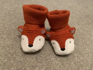 Baby Fox Slippers Booties 3-6 Months