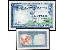 CAMBODGE  LAOS  VIETNAM    1  piastre  1954     ( F28 )