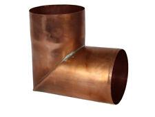 Kupfer-Fallrohrwinkel rund 87°