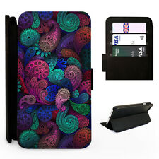 Aztec Paisley Pattern - Flip Phone Case Cover - Fits Iphone / Samsung
