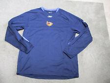 Reebok Atlanta Thrashers Long Sleeve Shirt Adult Large Dri Fit Hockey Blue Mens
